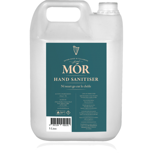 Wholesale 5L - Mór Hand Sanitiser x 1 Jerrycan
